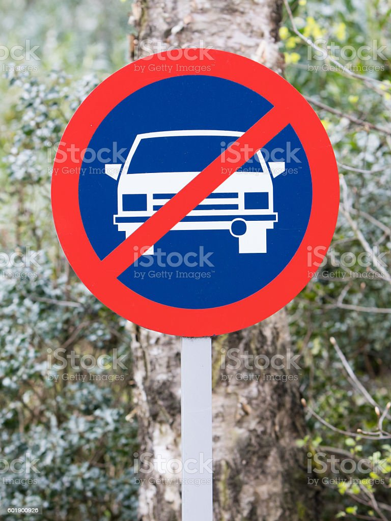 No parking road sign old stock photo