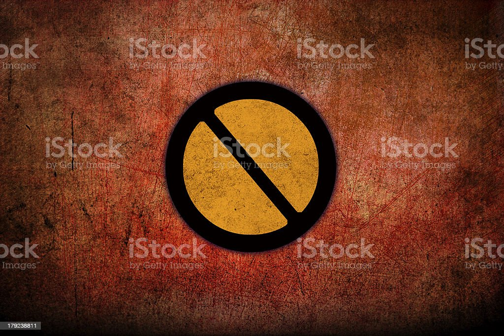 No parking sign on pavement royalty-free stock photo