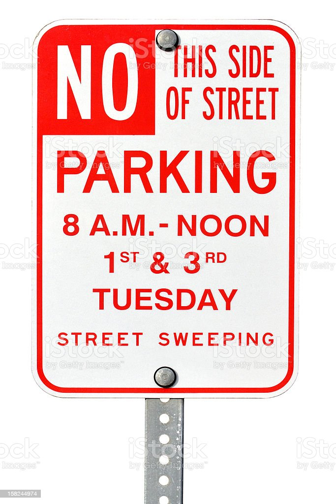 No parking sign royalty-free stock photo
