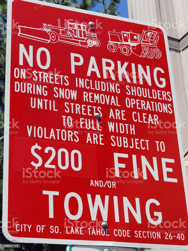 No Parking Sign stock photo