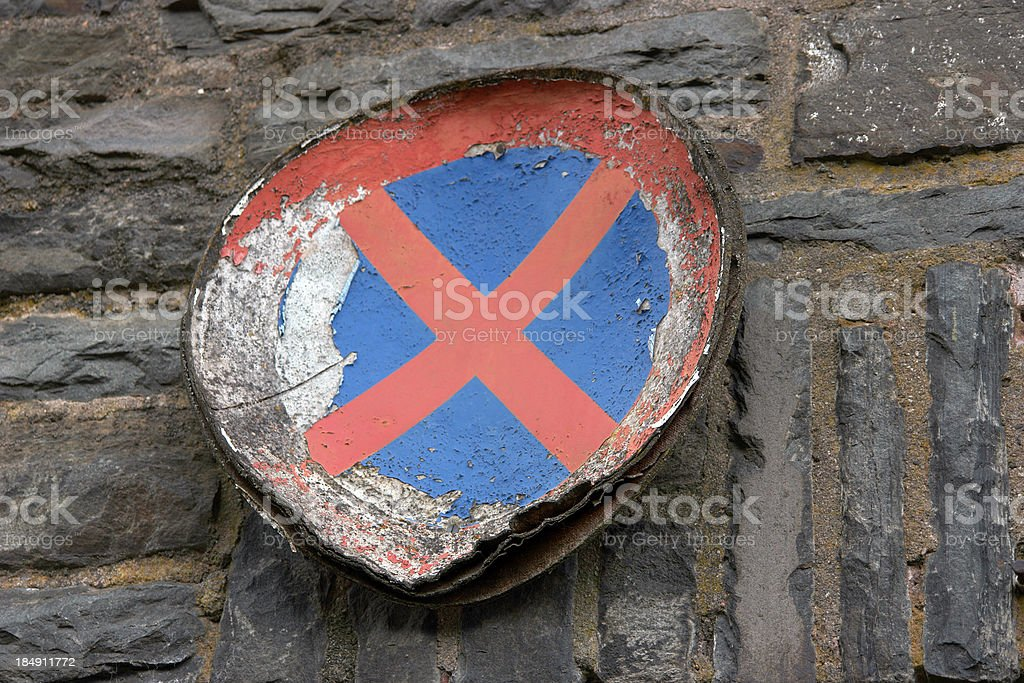 No Parking / Stopping royalty-free stock photo