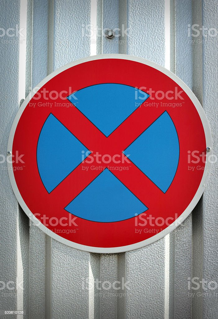 No parking traffic sign royalty-free stock photo