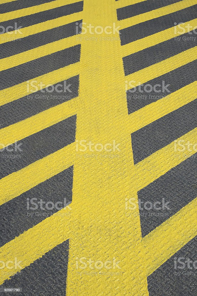 No parking yellow road marking royalty-free stock photo
