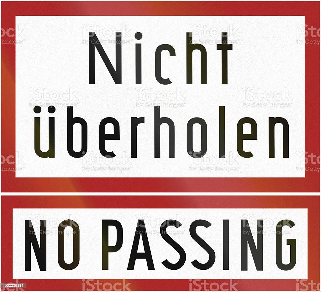 No Passing vector art illustration