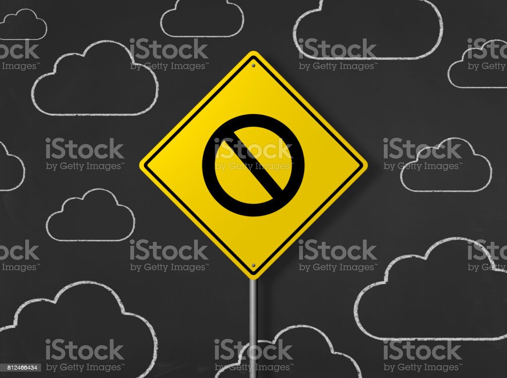 No Passing Sign - Business Chalkboard Background stock photo