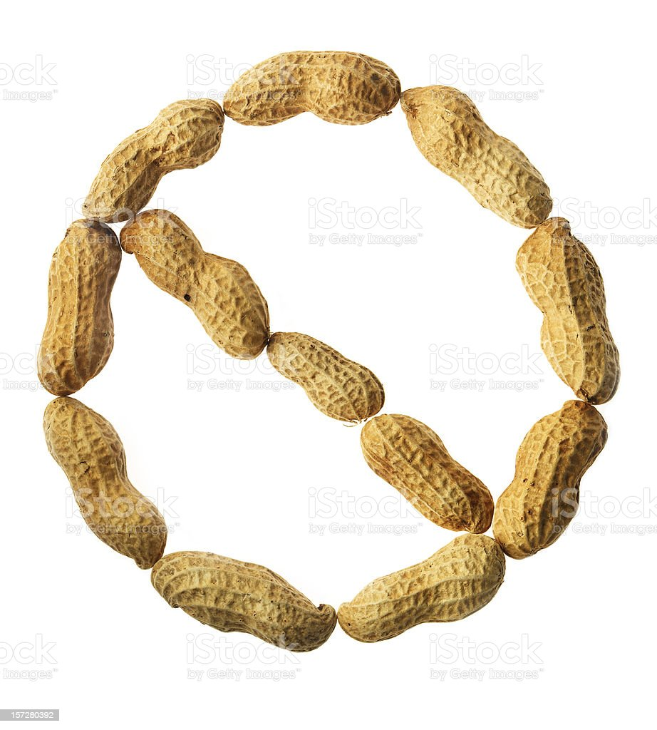 No Peanuts royalty-free stock photo