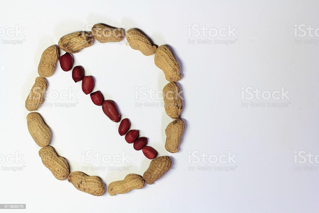 No Peanuts - stock photo stock photo