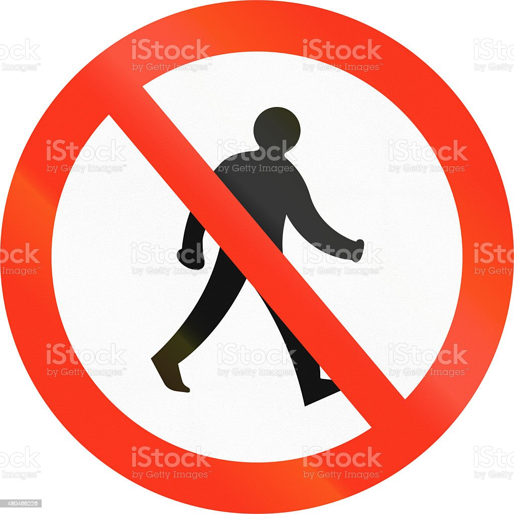 No Pedestrians In Bangladesh stock photo