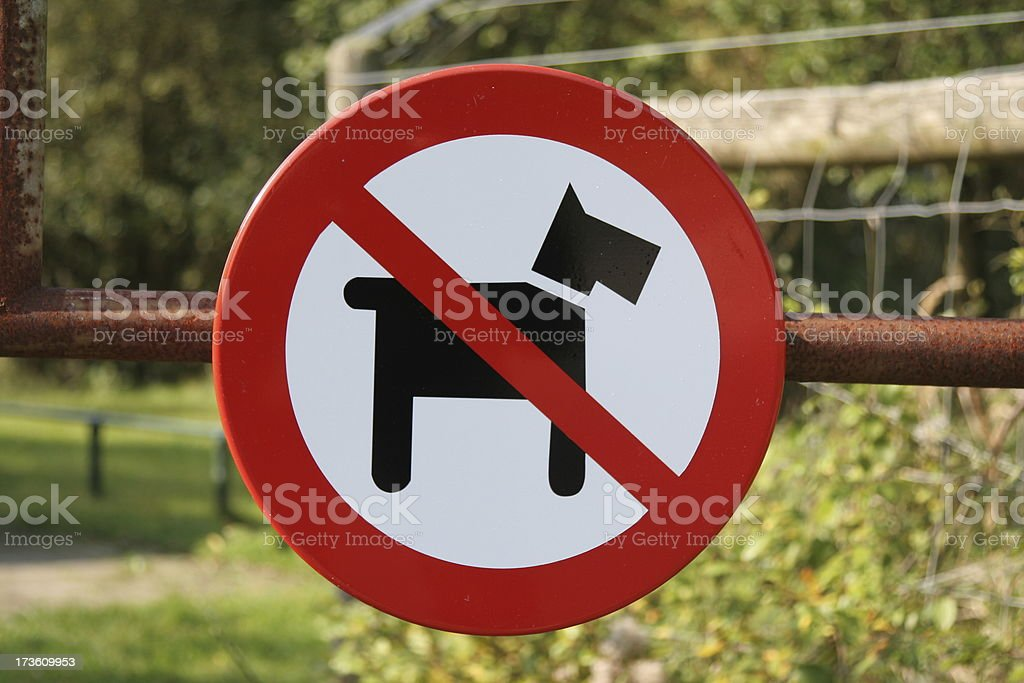 No pets allowed royalty-free stock photo