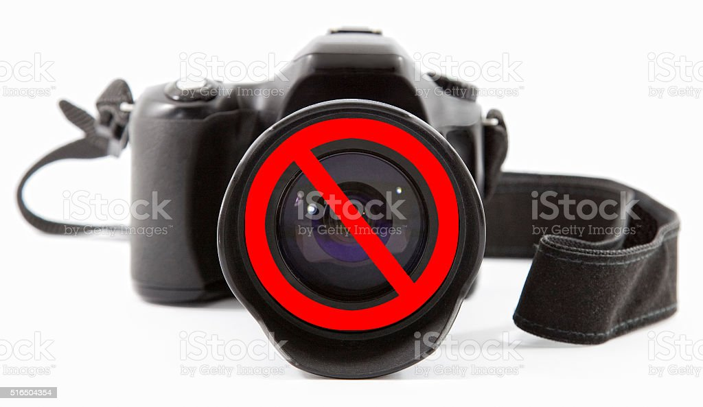No photography allowed stock photo