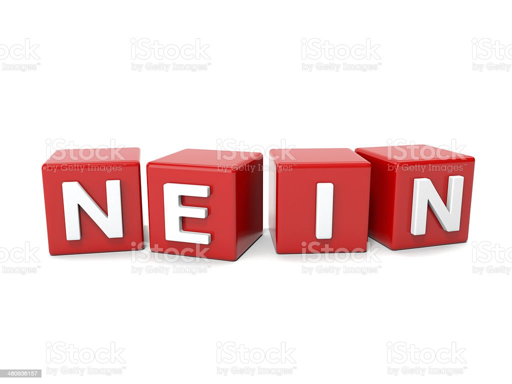 nein stock photo