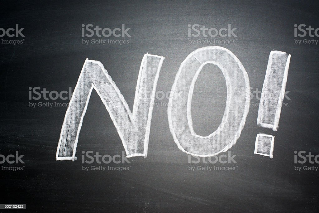 NO! stock photo
