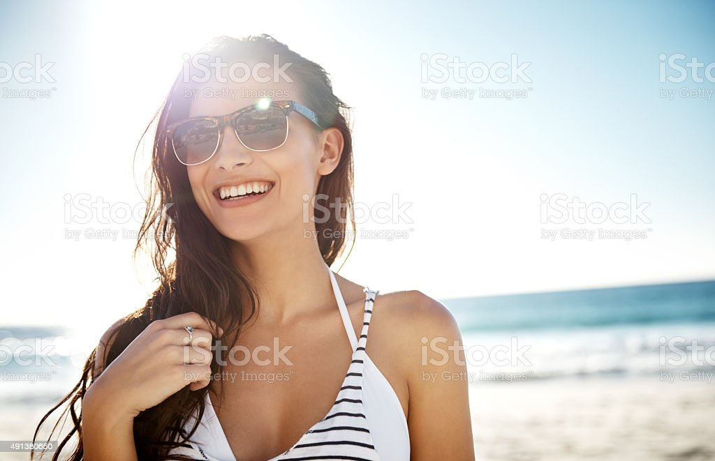 No place as awesome as the beach stock photo