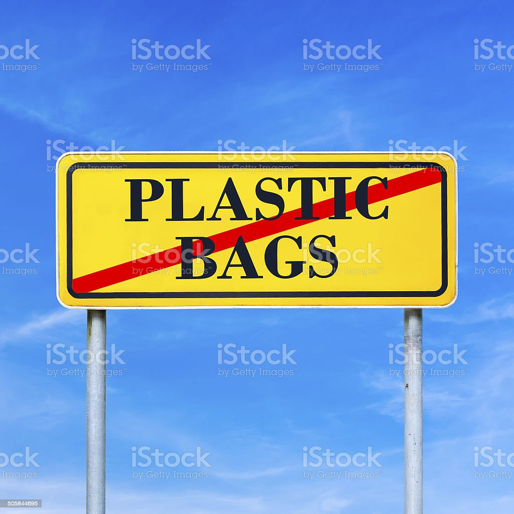 No plastic bags royalty-free stock photo