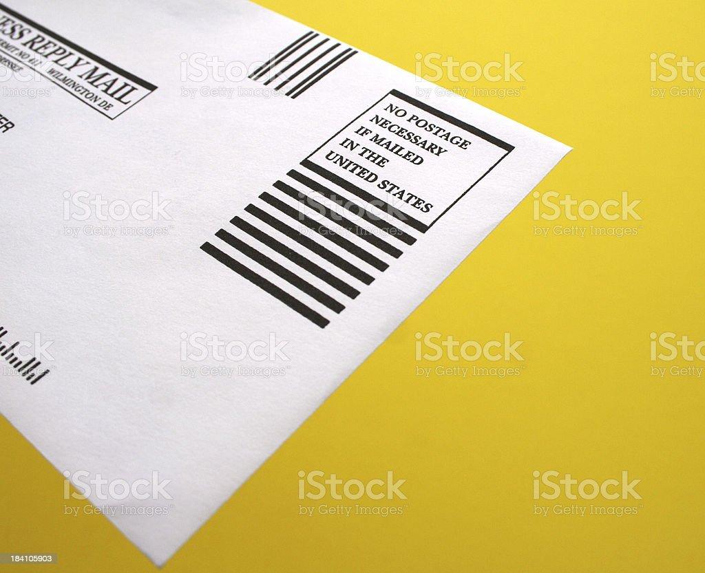 No Postage Necessary stock photo