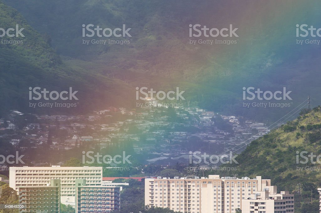 No rain, No rainbows 4 stock photo