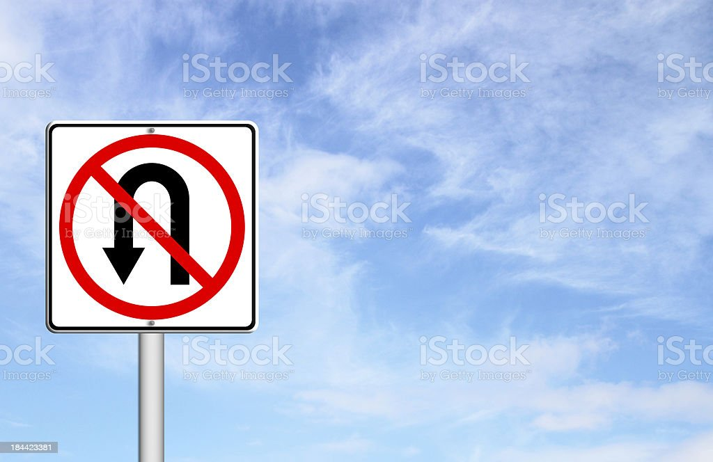 No return back road sign stock photo