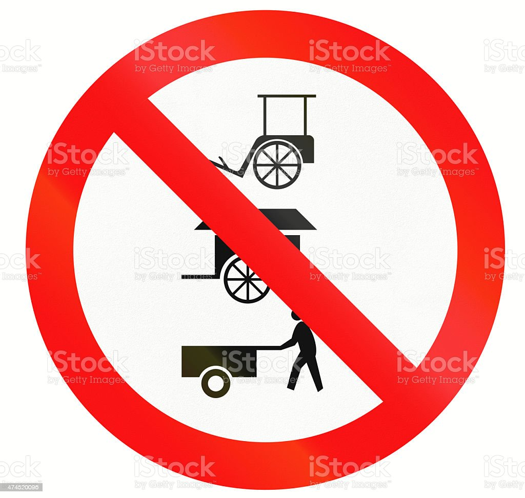 No Rickshaws And Carts In Indonesia stock photo