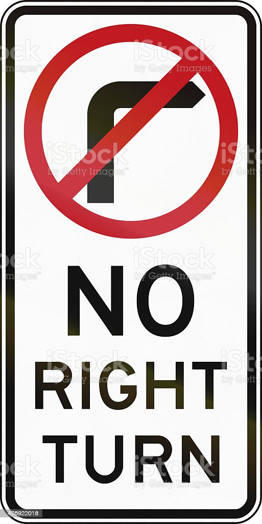 No Right Turn In Australia stock photo