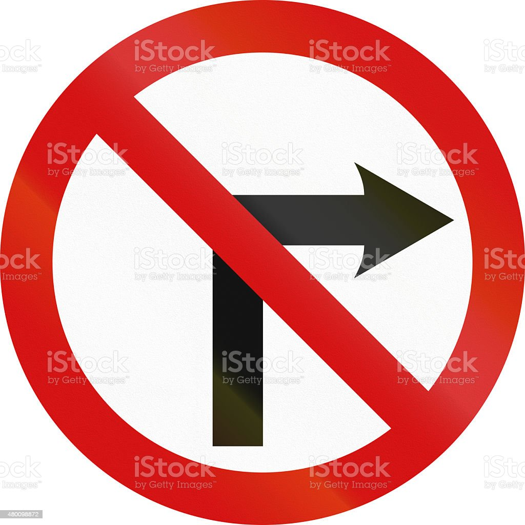 No Right Turn in Ireland stock photo