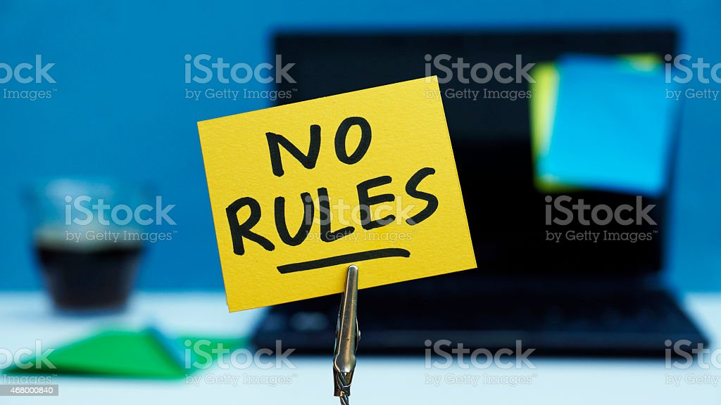 No rules written stock photo