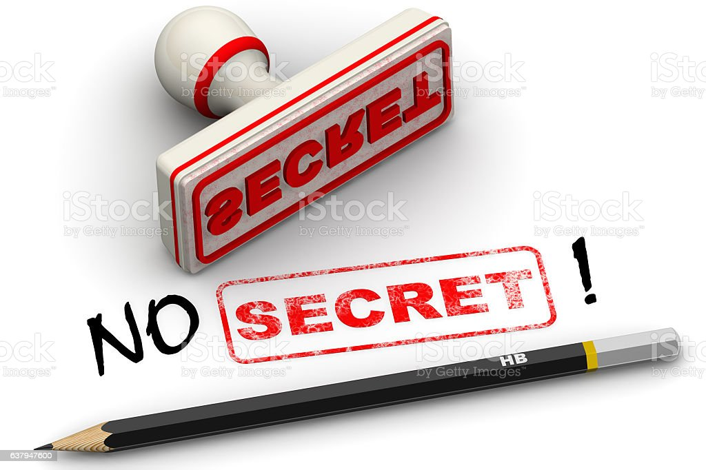 No secret! Corrected seal impression stock photo