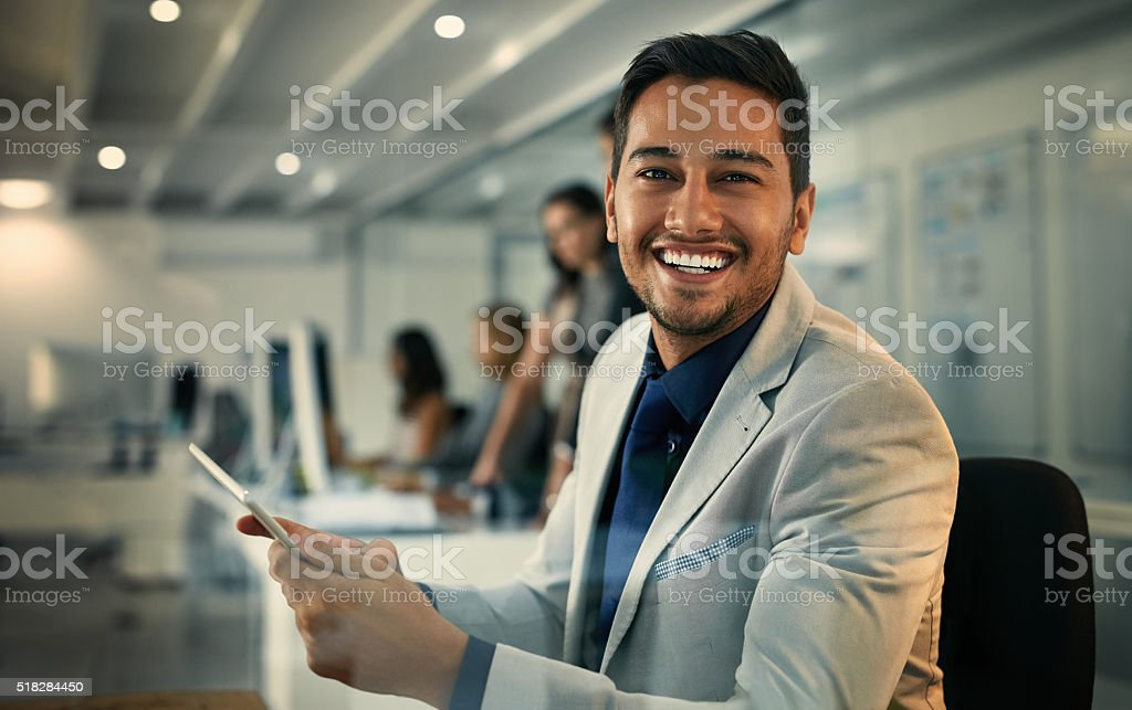 No shortage of information thanks to modern technology stock photo