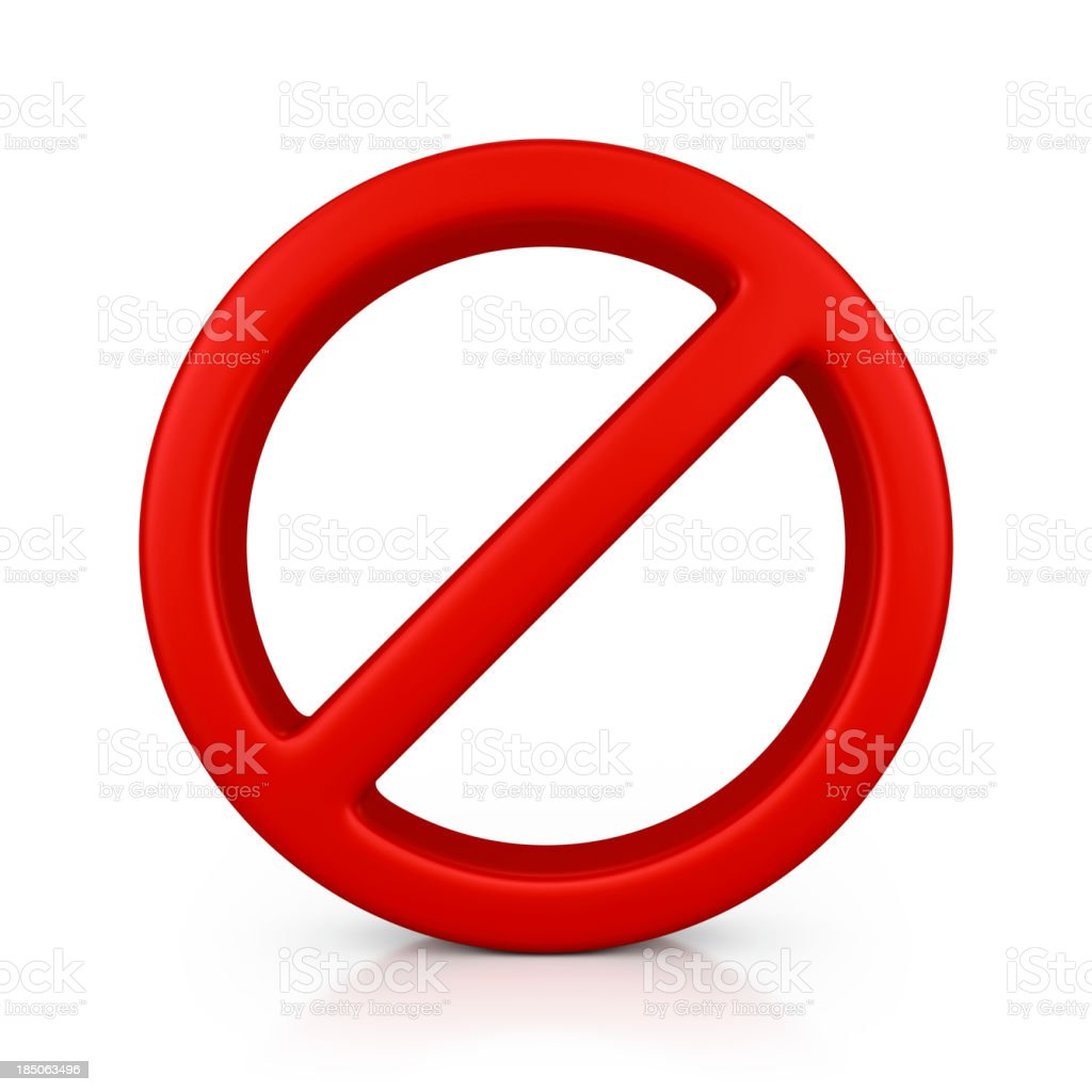 no sign royalty-free stock photo