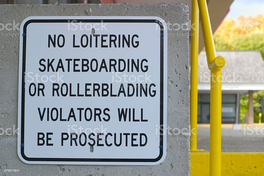 A sign depicting a lot of \'no\' items.
