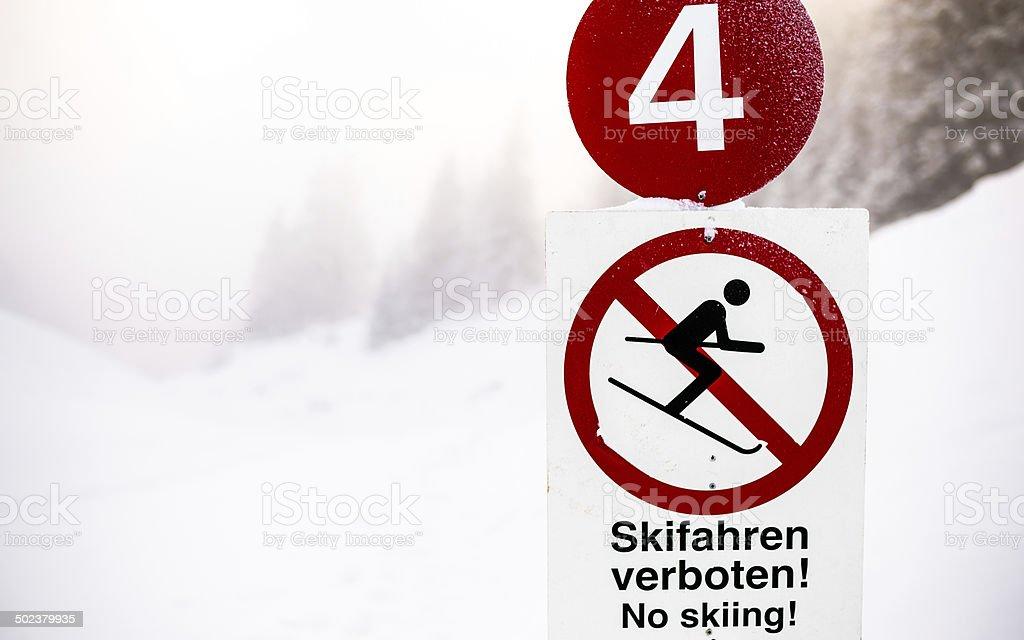 No Skiing stock photo