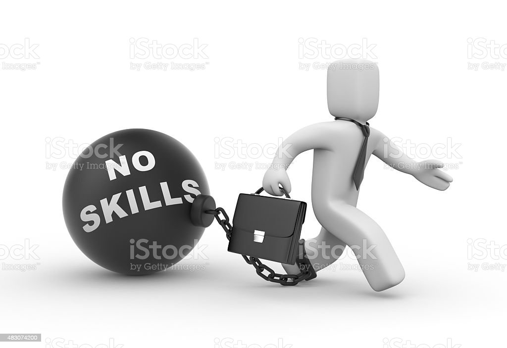 No skills stock photo
