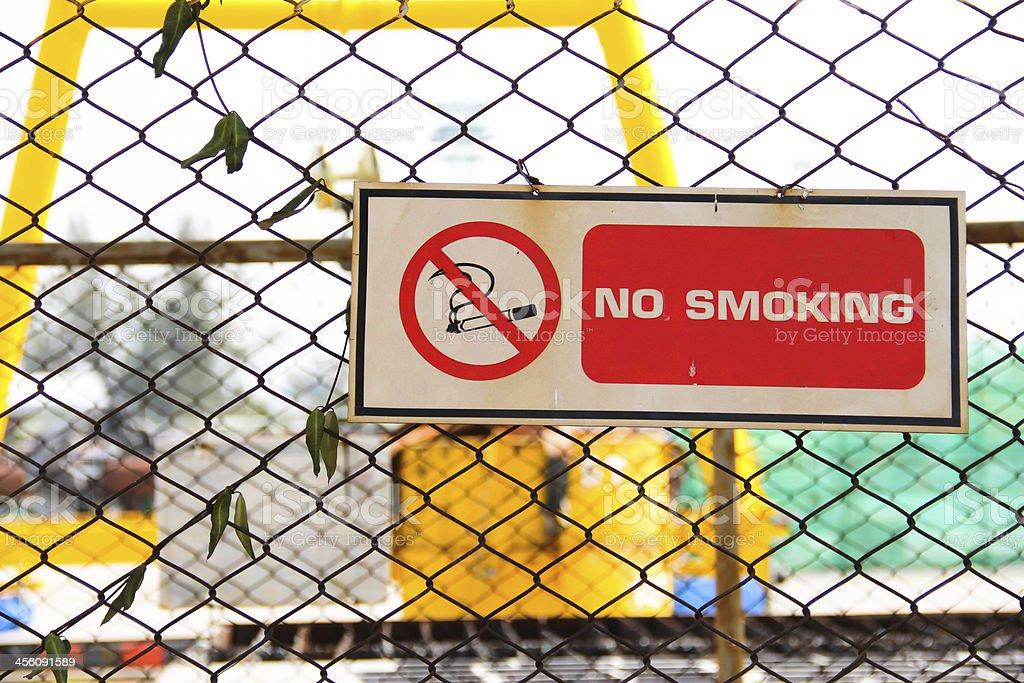 no smoke sign stock photo