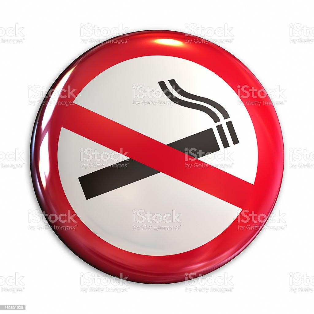 No smoking badge royalty-free stock photo
