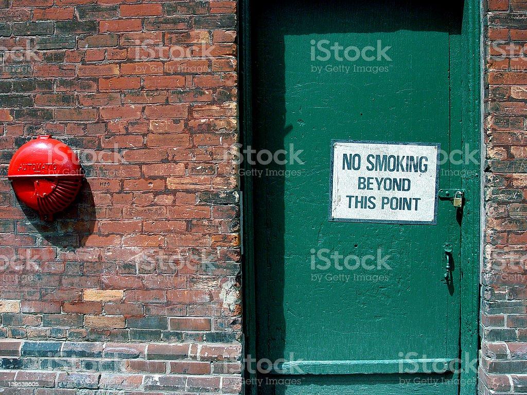 No Smoking Beyond This Point royalty-free stock photo