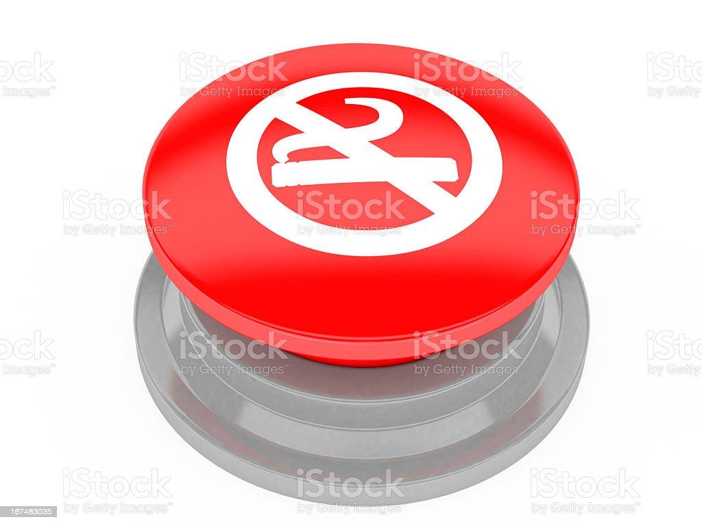 No Smoking button stock photo