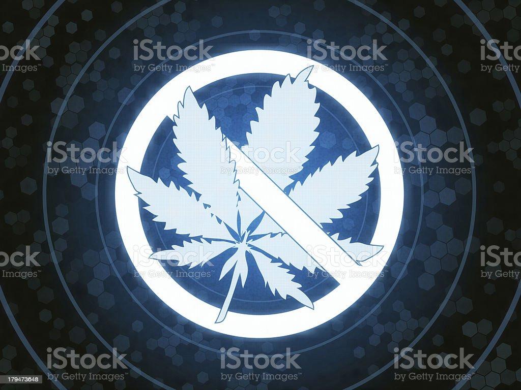 No Smoking Drugs royalty-free stock photo