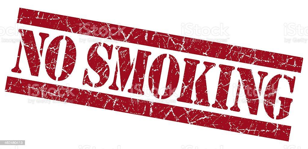 No smoking grunge red stamp stock photo