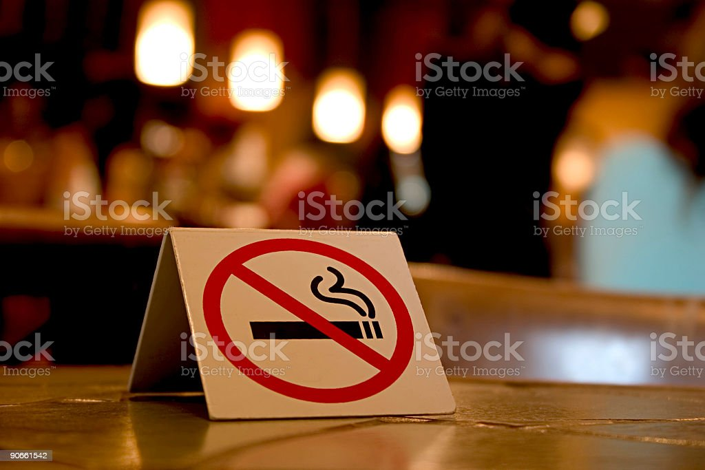 No Smoking on these premises royalty-free stock photo