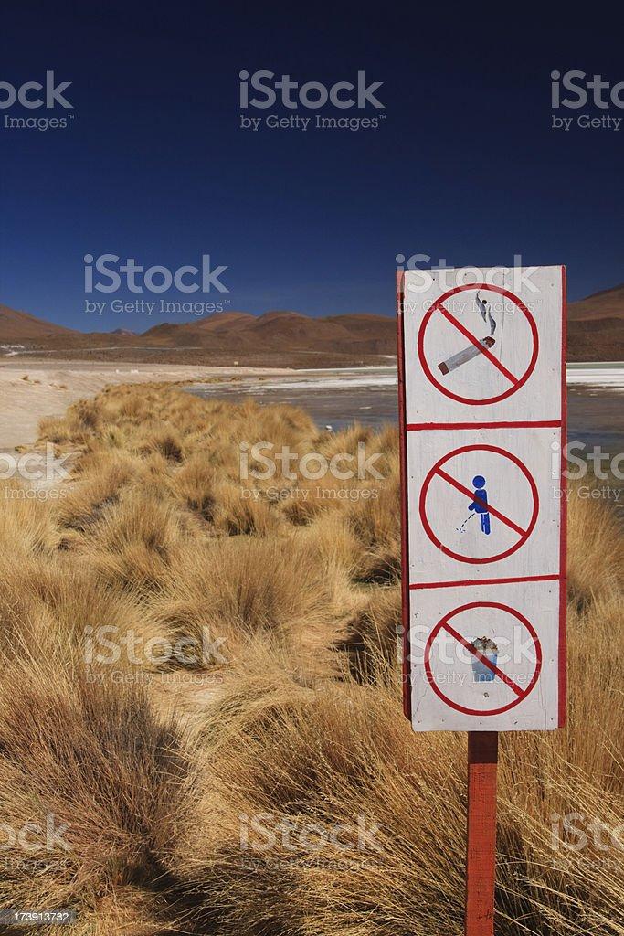 No Smoking Peeing or Garbage stock photo
