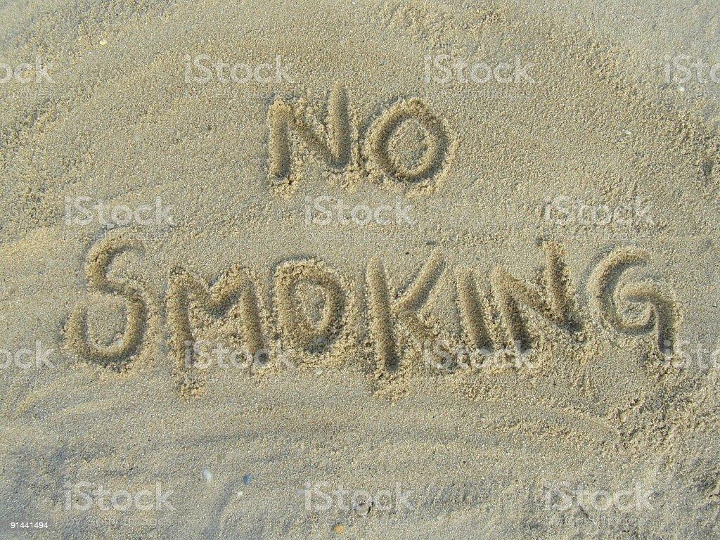 No Smoking royalty-free stock photo