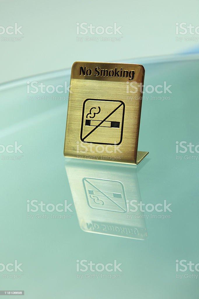 no smoking sign at table royalty-free stock photo