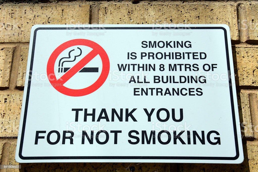 No smoking sign, Birmingham. stock photo