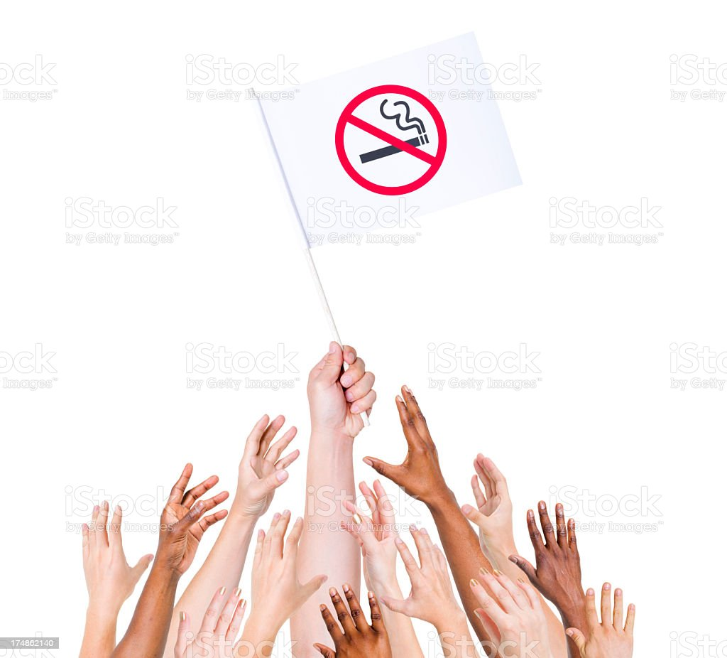 No Smoking sign flag royalty-free stock photo