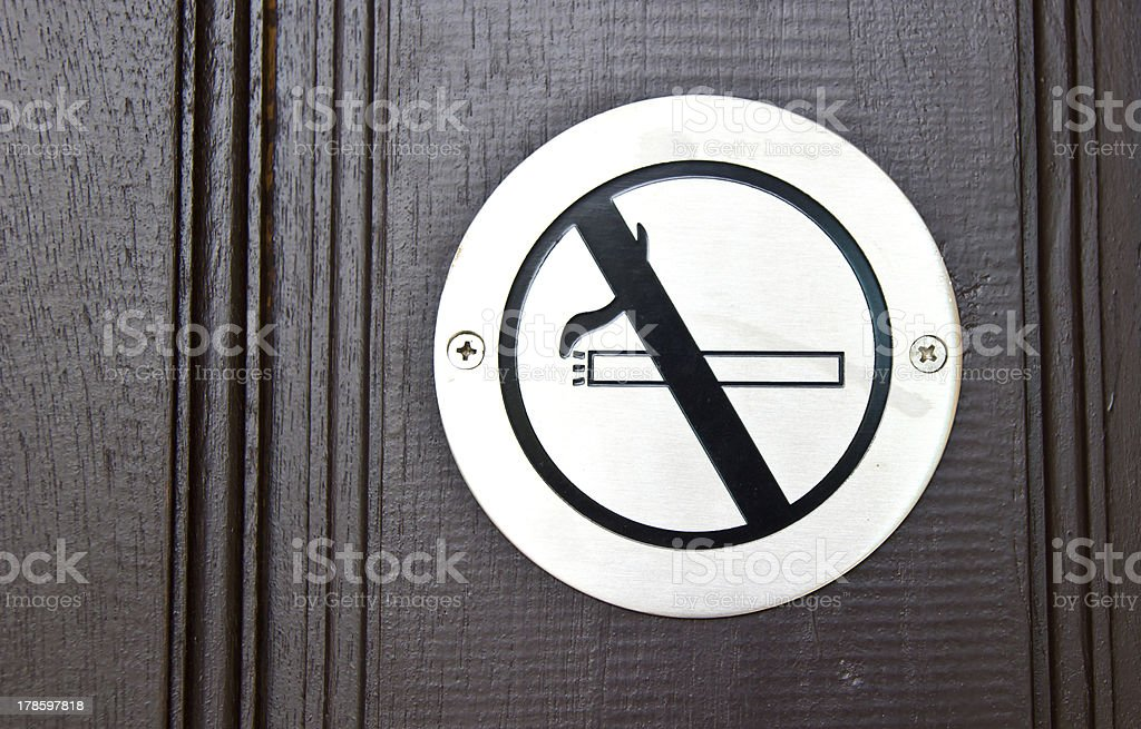 No smoking sign on the wall. royalty-free stock photo