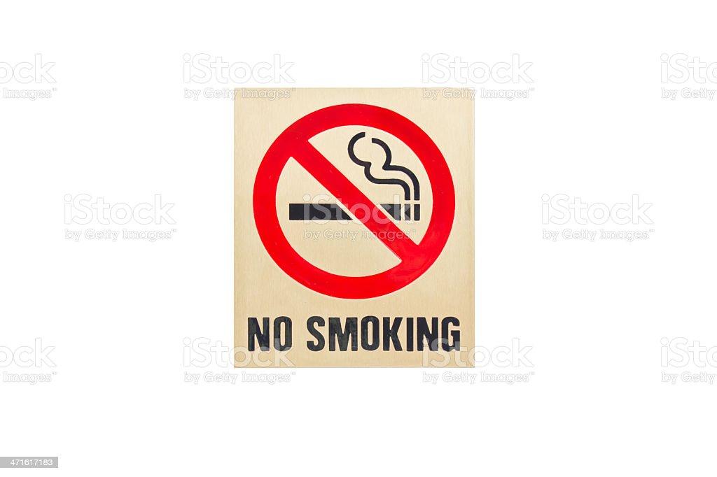 No smoking sign on white background. royalty-free stock photo
