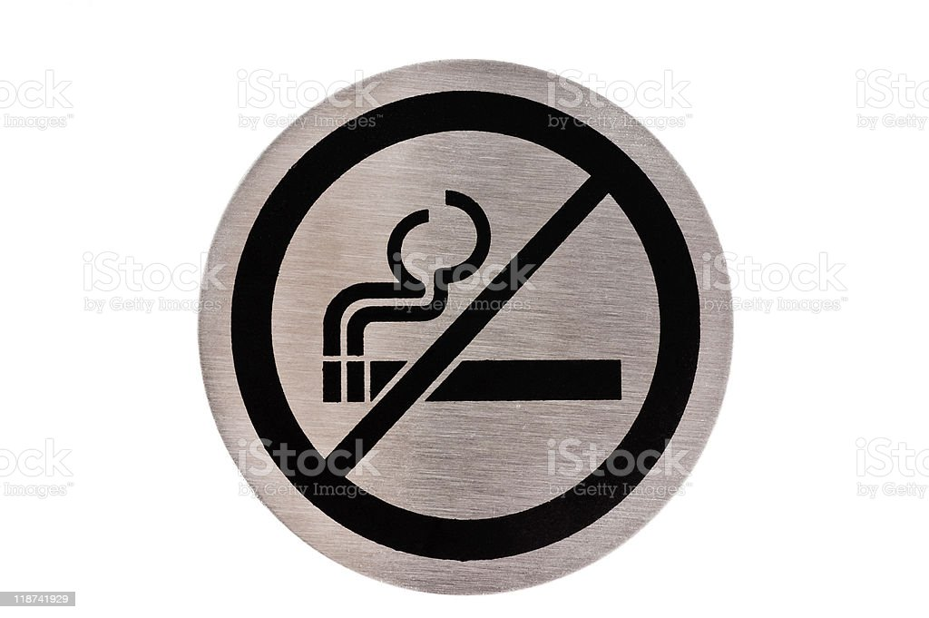 No smoking sign. stock photo