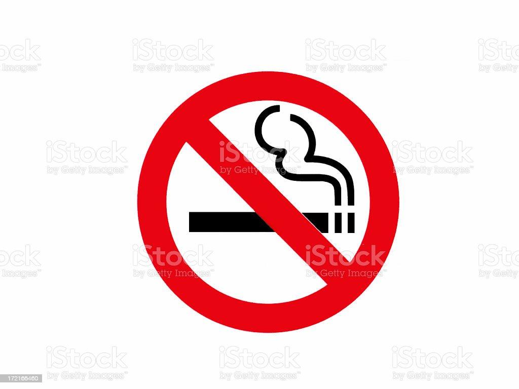 No Smoking Sign royalty-free stock photo