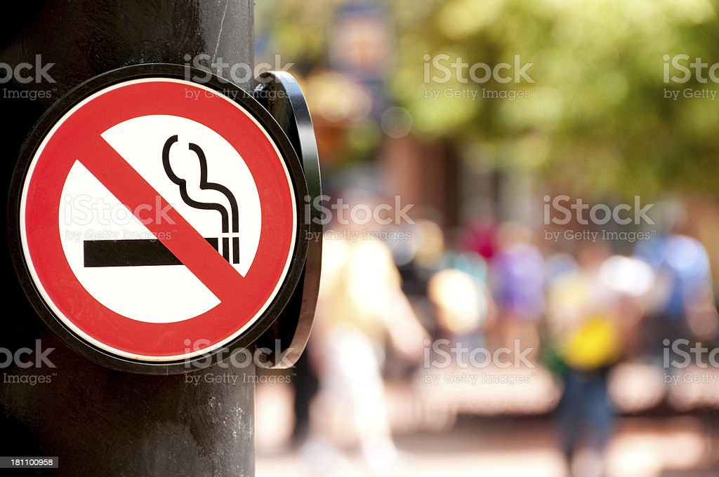 No Smoking Sign royalty-free stock photo
