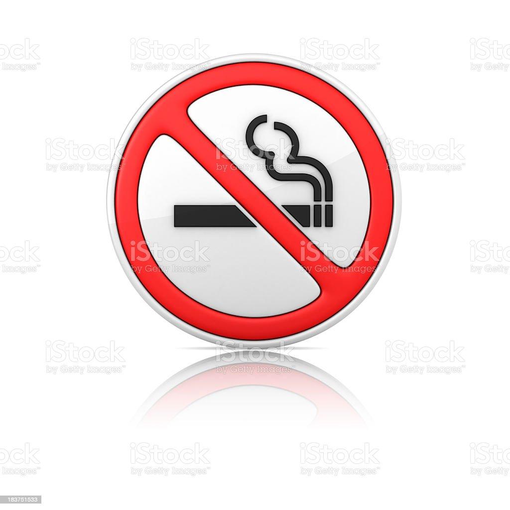 No Smoking Warning Sign royalty-free stock photo