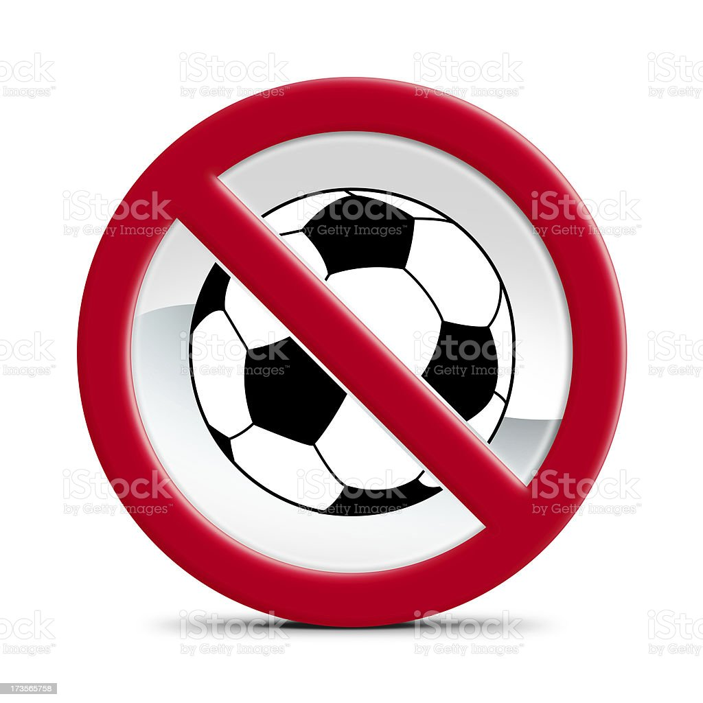 No soccer allowed stock photo